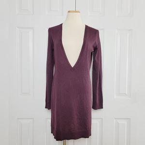 LOFT Deep V Sweater Tunic Dress